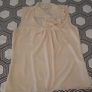 Gap Cream Tie Neck Blouse